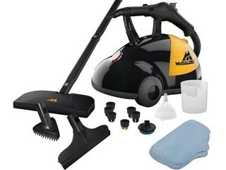 McCulloch Heavy Duty Deep Clean Handheld Canister Steam Cleaner   18 Accessories