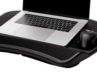 Amazonbasics Xl laptop lap Desk Tray With Cushion  Fits Up To 17 3 Inch