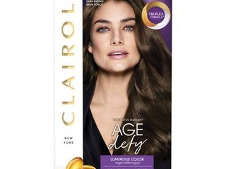 Clairol Age Defy Permanent Hair Color   4 Dark Brown   1 kit