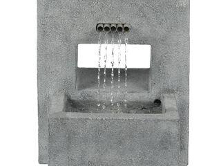 Stone Finish Pedestal Outdoor Patio Fountain  Retail 298 99