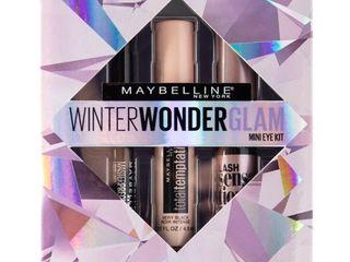 Maybelline Winter Wonderglam Mini Mascaras and Eyeliner Kit  3 Count Sealed in Box