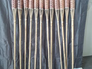 lot of 12 Tiki Torches