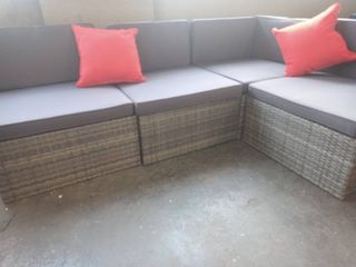 Outsunny Patio Furniture Partial Sectional 4 Piece