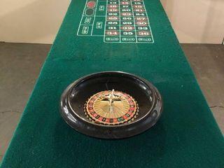 Custom Built Casino Style Portable Roulette Table w  Folding legs and De luxe 16  Roulette Wheel w  2 Balls