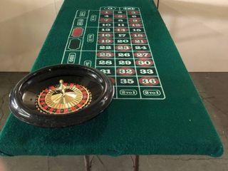 Custom Built Casino Style Portable Roulette Table w  Folding legs and De luxe 16  Roulette Set