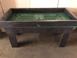 Custom Built Casino Style Portable Craps Table w  2 Casino Die