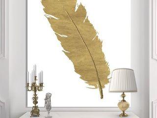 Designart  Glam pure Gold Feather II  Glam Canvas Artwork   Retail 89 99