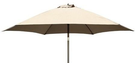 Tropishade 9 ft  Aluminum Bronze Patio Umbrella with Beige Cover   No Bottom Post or Base Included