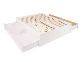 Prepac Queen Platform Bed  No Drawers