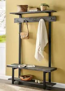 Carbon loft lawrence Entryway Hall Tree with Bench and Coat Hooks Retail 369 99