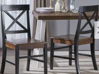 Roshan Farmhouse Acacia Dining Chairs