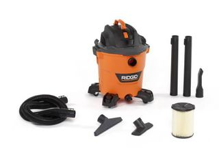 RIDGID 12 Gal  5 0 Peak HP NXT Wet Dry Shop Vacuum with Filter  Hose and Accessories  Oranges Peaches