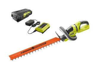 RYOBI 24 in  40 Volt lithium Ion Cordless Hedge Trimmer with 2 Ah Battery and Charger Included