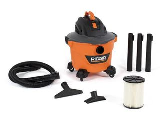 RIDGID 9 Gal  4 25 Peak HP NXT Wet Dry Shop Vacuum with Filter  Hose and Accessories  Oranges Peaches