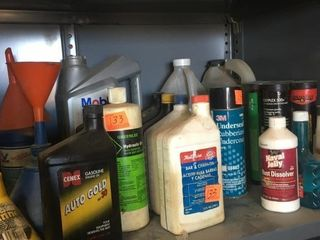 Various oil and grease
