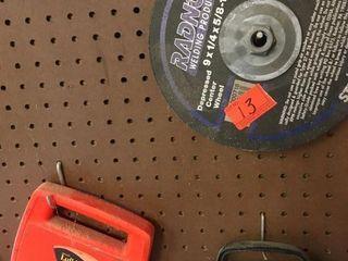 Tape measure   grinding wheel