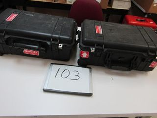 Pair Pelican Cases   1510 Air carry on Case   Inte