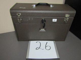 Kennedy Tool box   Machinist chest  7 felt lined
