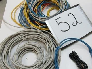 Assortment of Ethernet patchcords   Most are Cat n