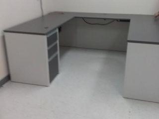 Bestar Connexion U shaped Workstation Kit  Sandstg