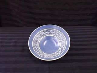 BlUE GlAZED BOWl WITH TEXTURED INTERIOR CREATED