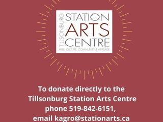 TO DONATE NOW PlEASE CAll STATION ARTS CENTRE