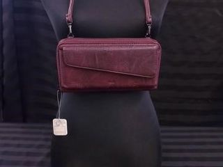 S Q  PlUM PURSE WITH RFID FUNCTION