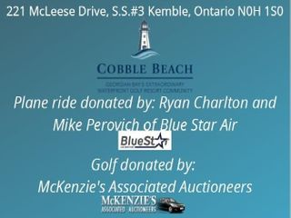 GOlF AND PRIVATE PlANE RIDE FOR 4 AT COBBlE BEACH