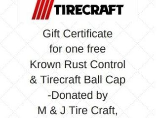 GIFT CERTIFICATE FOR 1 FREE KROWN RUST CONTROl