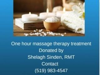 ONE HOUR MASSAGE THERAPY TREATMENT WITH SHElAGH