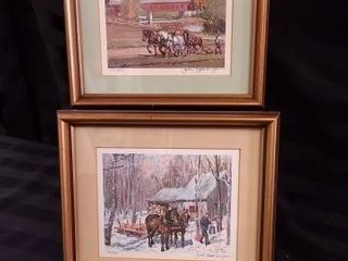 2 SMAll PETER ENTRl SNYDER PRINTS  NUMBERED