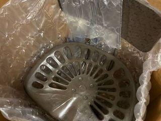 Carbon loft Ewart Grey Cast Iron Tractor Seat Stool Retail 155 49