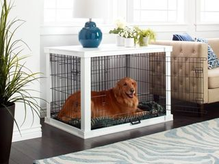 Merry Products White Wooden Pet Kennel with Crate Cover Retail 243 99