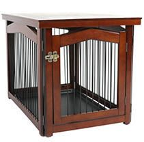 2 in 1 configurable Pet Crate and Gate  large  Brown