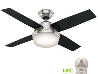 Hunter 44  Dempsey Ceiling Fan with lED light Kit and Handheld Remote   Silver Retail 149 99