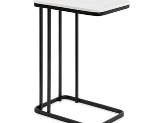 Kate and laurel Credele Modern Glam C Table with Gold Metal Base Retail 149 99
