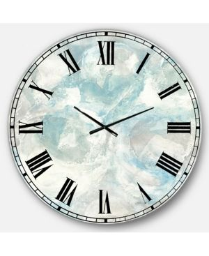 Designart  Pale Blue Shade III  Modern Farmhouse large Wall Clock Retail 139 99