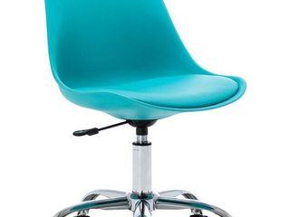 Porch   Den Stringer Molded  Padded Seat Mid century Modern Task Chair Retail 95 99