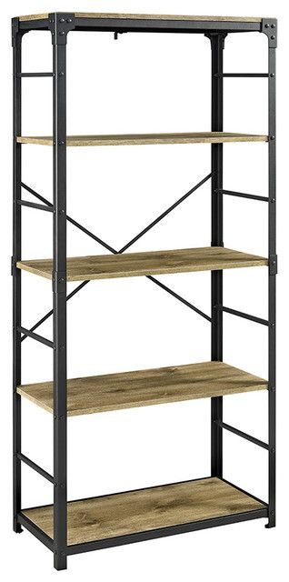 Carbon loft Minnie 64 inch Angle Iron Bookshelf Retail 187 49