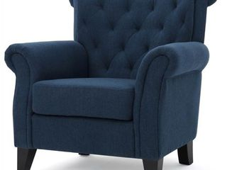 Merritt High Back Tufted Fabric Club Chair by Christopher Knight Home Retail 365 99