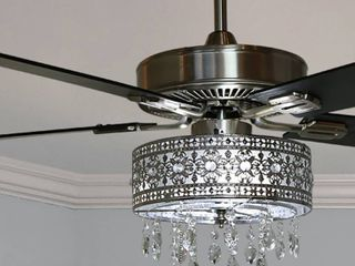 Copper Grove Cagua 52 inch Crystal lED Chandelier Ceiling Fan   52 l x 52 W x 18 25 H Retail 238 99