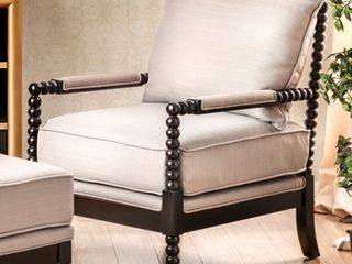 Furniture of America Digg Beige Fabric Accent Chair  Retail 579 99