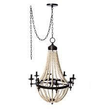 Sonoma Natural Beaded Brown 8 light Chandelier  Retail 259 99