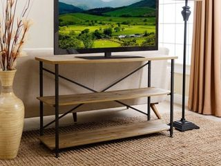 Abbyson Distressed Iron Industrial TV Stand   47 Inch  Retail 178 09