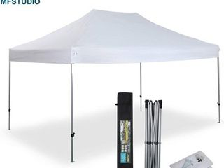 PHIVIllA 10  x 15  Straight leg Pop Up Canopy Tent Instant Commercial Canopy for Backyard  Party  Event  Home  Garden White  Retail 208 99