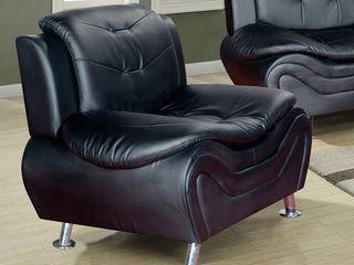 Ellena Black Moder Faux leather living Room Chair  Retail 399 99