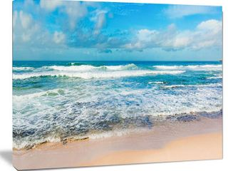 Indian Ocean Panoramic View   Extra large Seashore Canvas Art  Retail 188 99