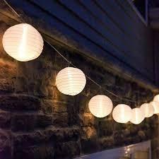 12 5 Solar lED White String lanterns