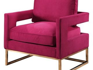 Abbyson Cromwell Velvet Accent Chair  Retail 369 54