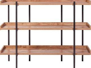 OneSpace 50 JN173SHlF Modern Etagere Wood and Steel 3 shelf display  Retail 149 99
